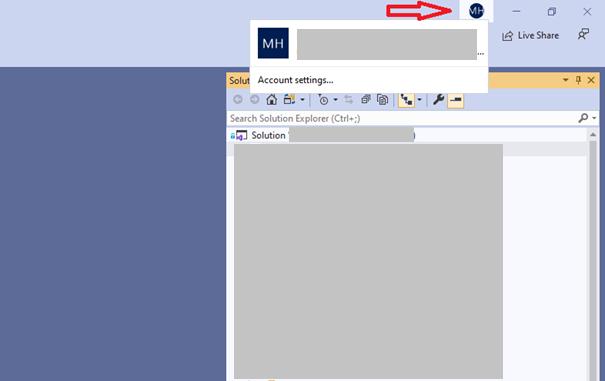 Login to Visual Studio